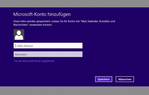 Windows 8 MailTo Screen