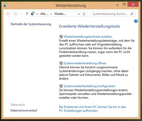 Windows-7-Dateiwiederherstellung unter Windows 8